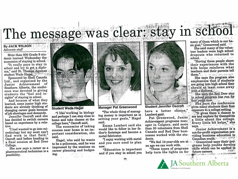 Junior-achievement-stay-in-school-red-deer-advocate-1997-